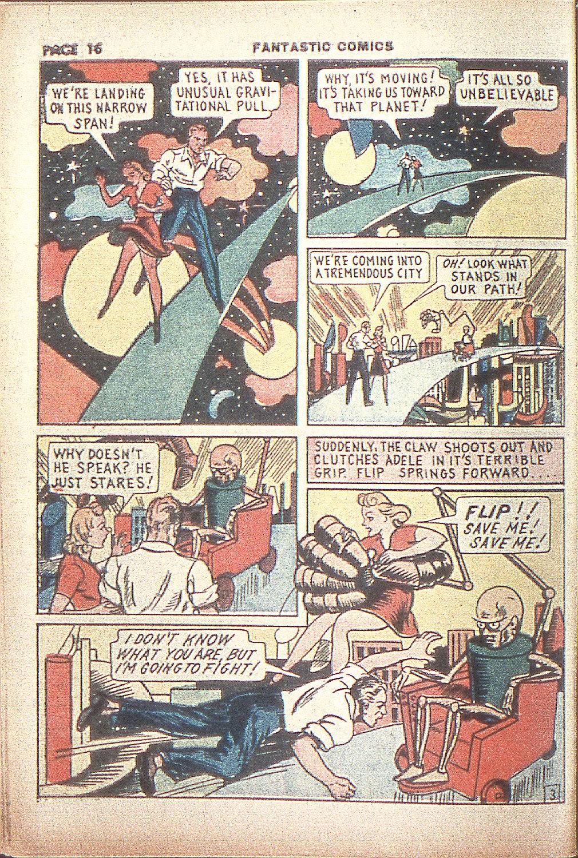 Read online Fantastic Comics comic -  Issue #4 - 18
