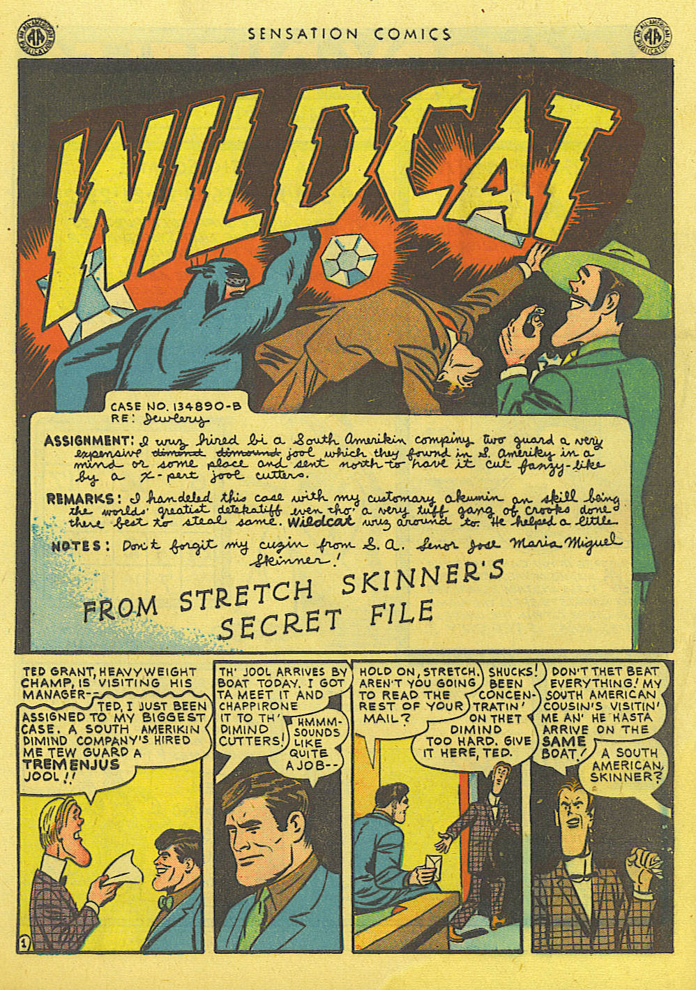 Read online Sensation (Mystery) Comics comic -  Issue #39 - 42