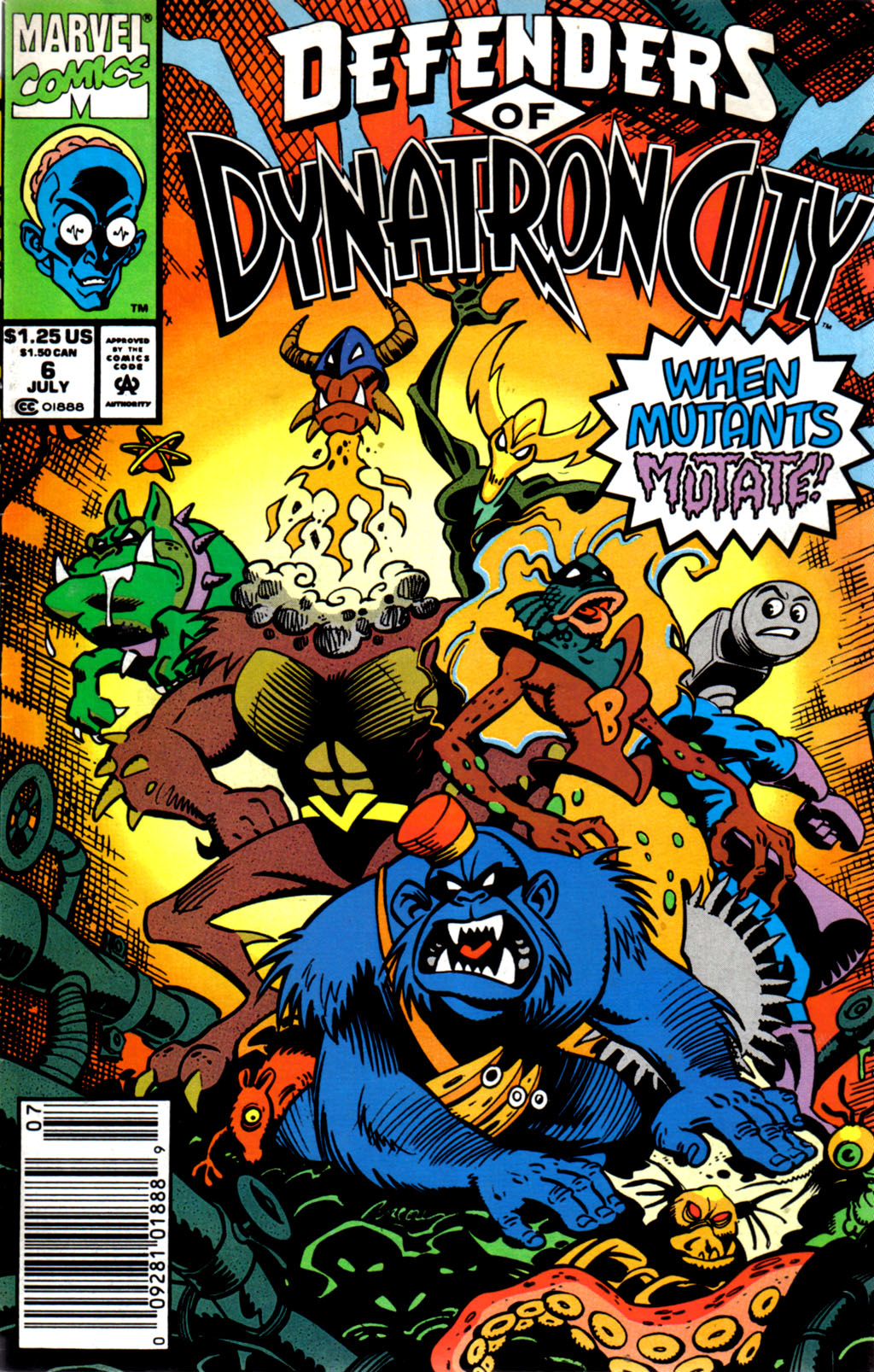 Read online Defenders of Dynatron City comic -  Issue #6 - 1