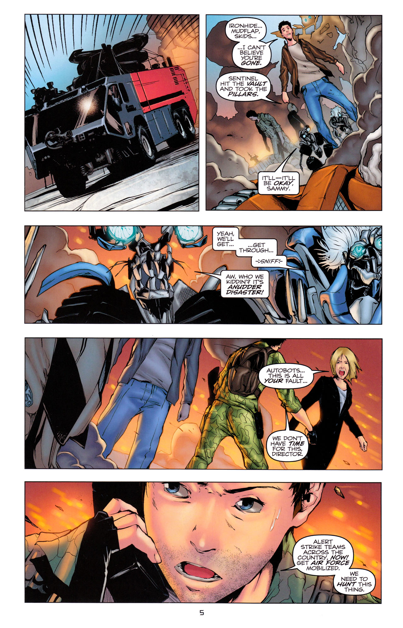 Read online Transformers: Dark of the Moon Movie Adaptation comic -  Issue #3 - 7
