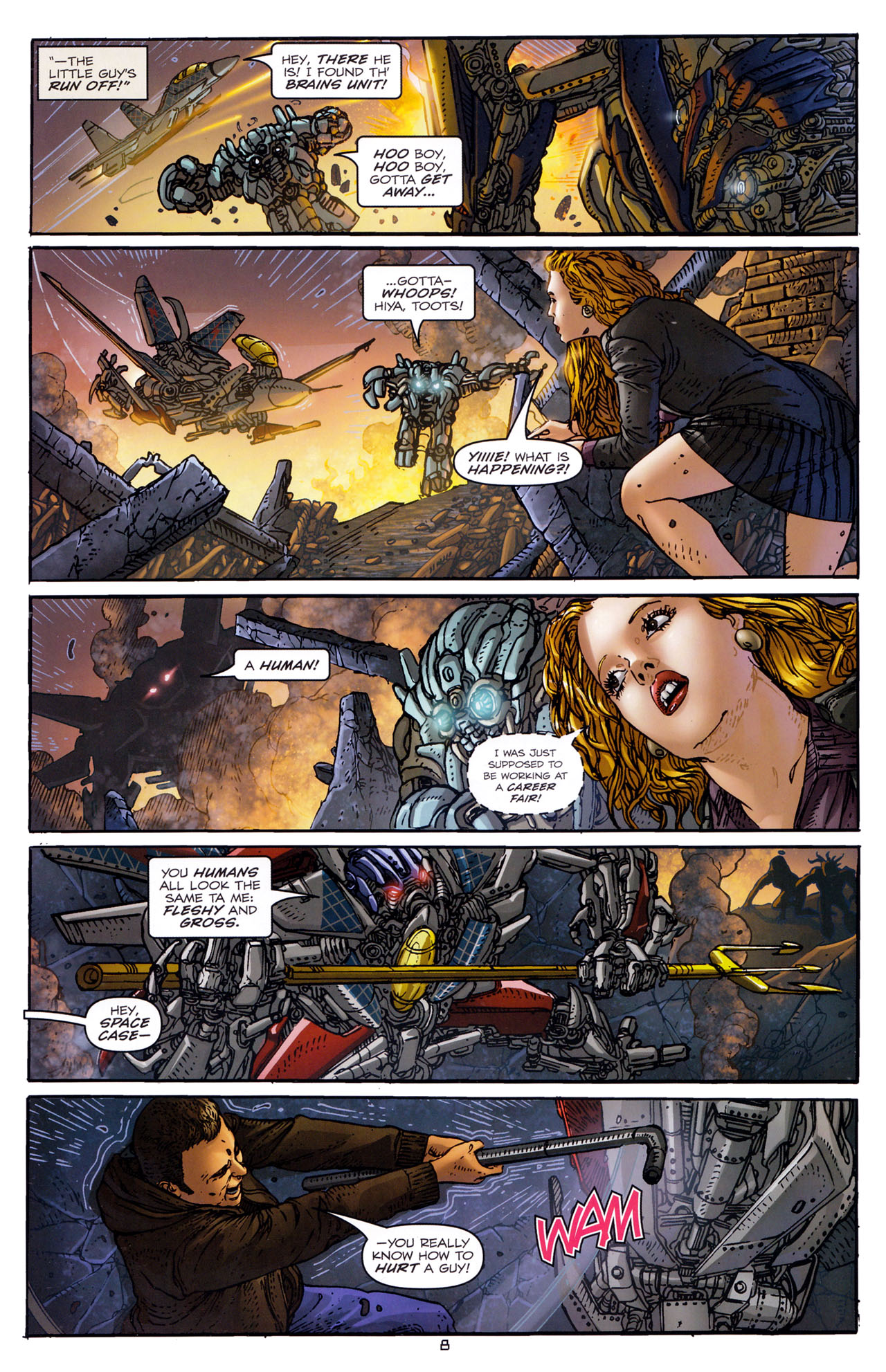 Read online Transformers: Dark of the Moon Rising Storm comic -  Issue #3 - 9