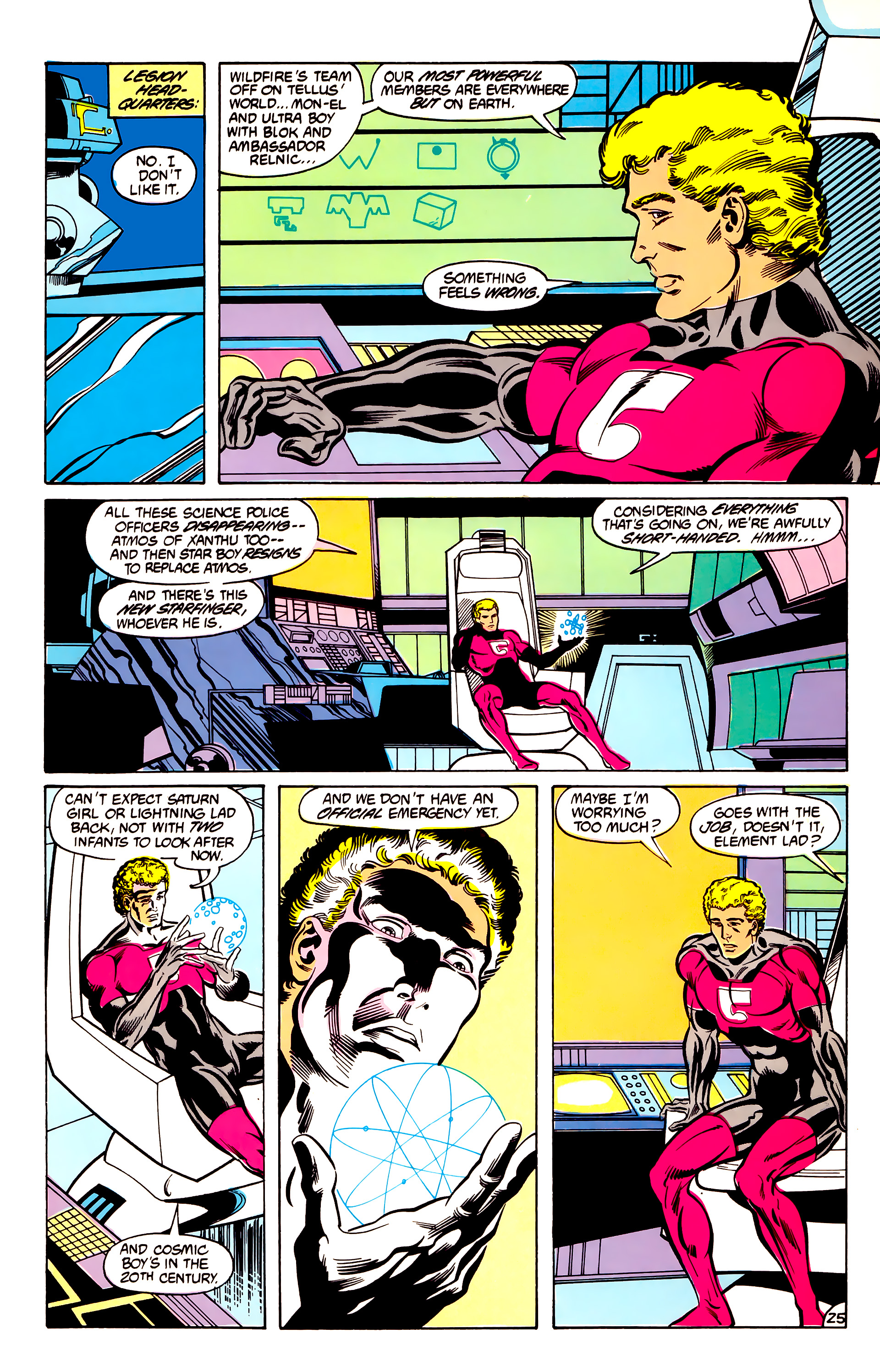 Legion of Super-Heroes (1984) 30 Page 25
