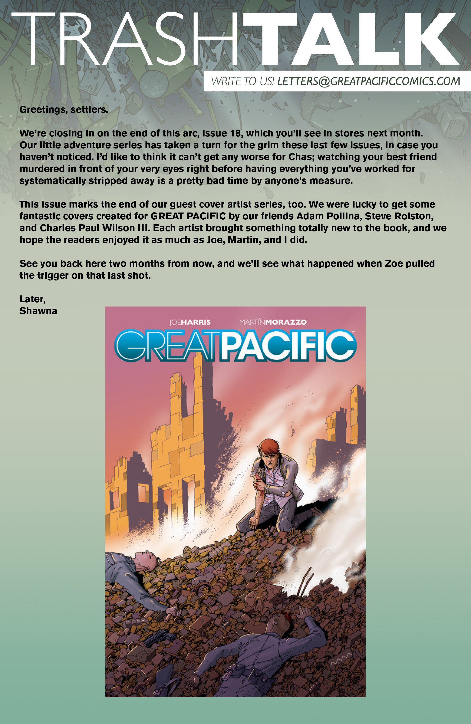 Read online Great Pacific comic -  Issue #16 - 25