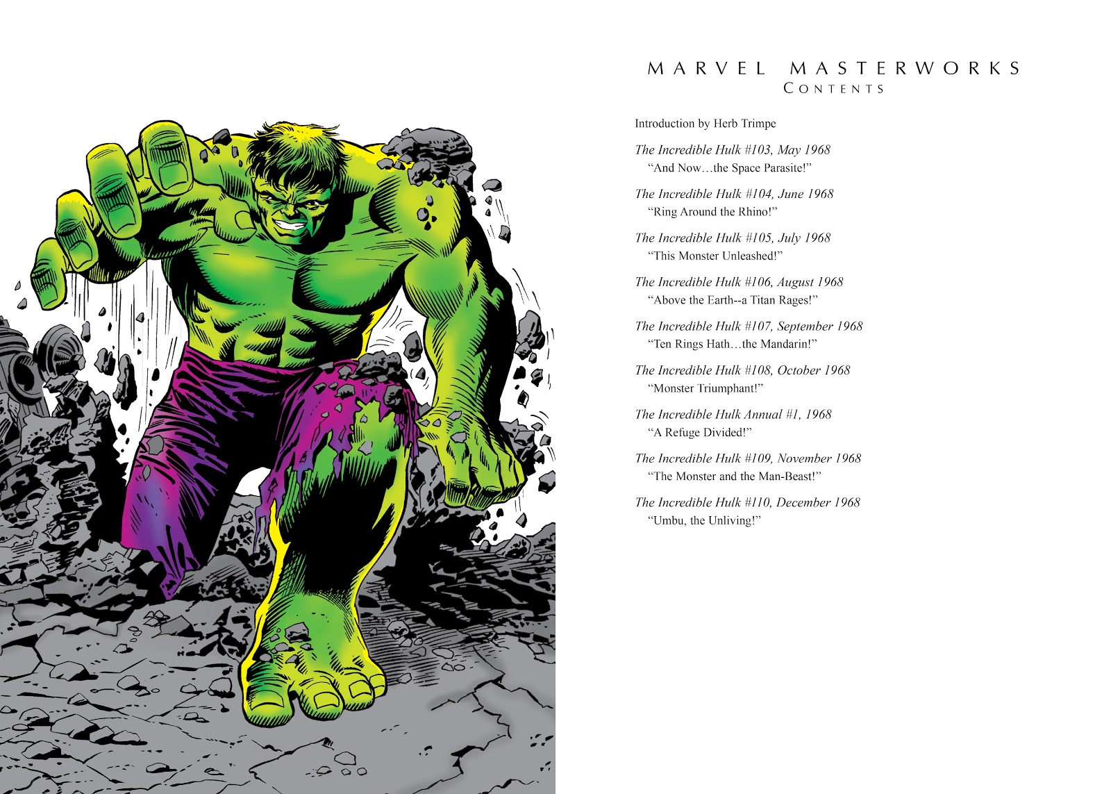Read online Marvel Masterworks: The Incredible Hulk comic -  Issue # TPB 4 (Part 1) - 4