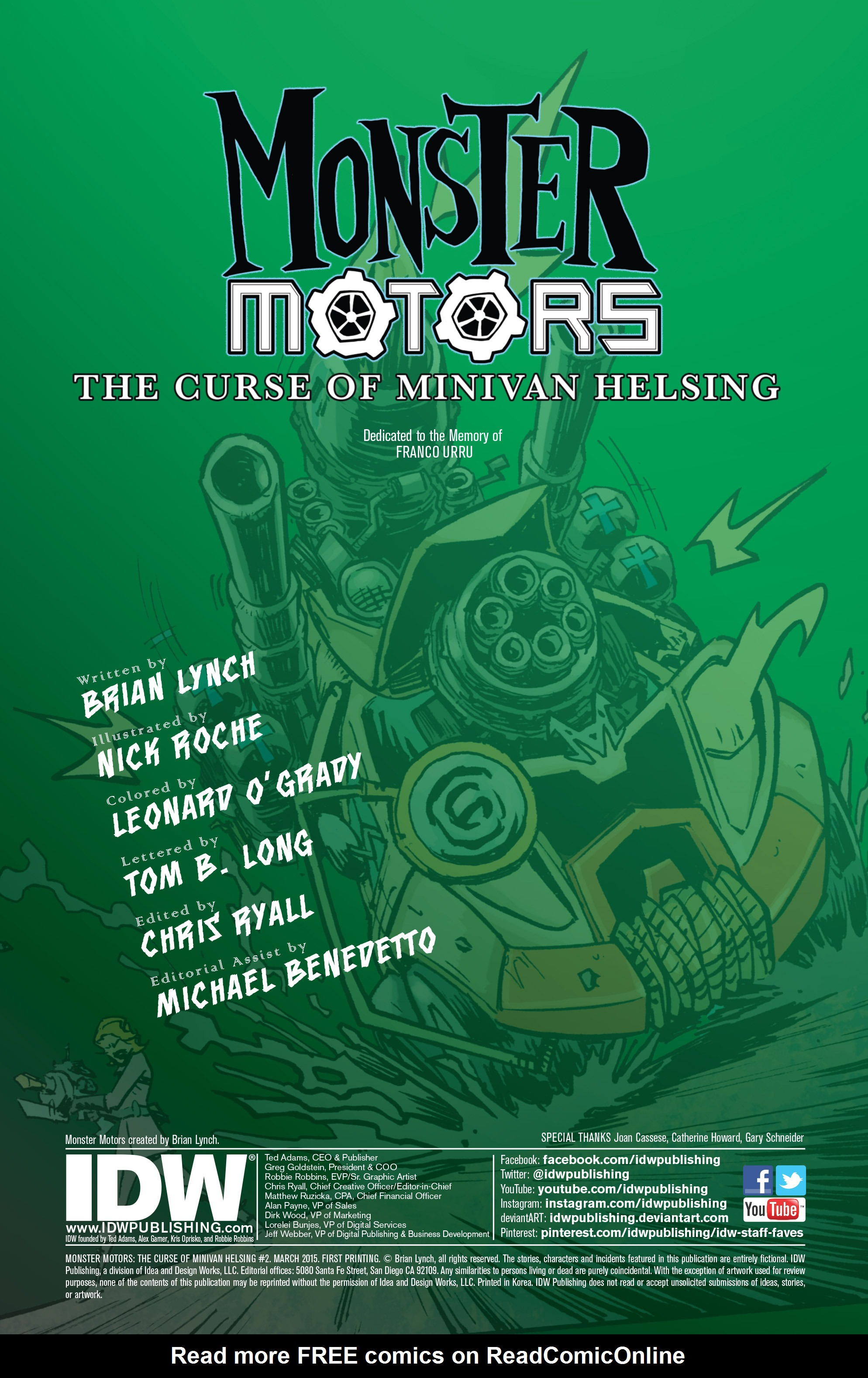 Read online Monster Motors: The Curse of Minivan Helsing comic -  Issue #2 - 2