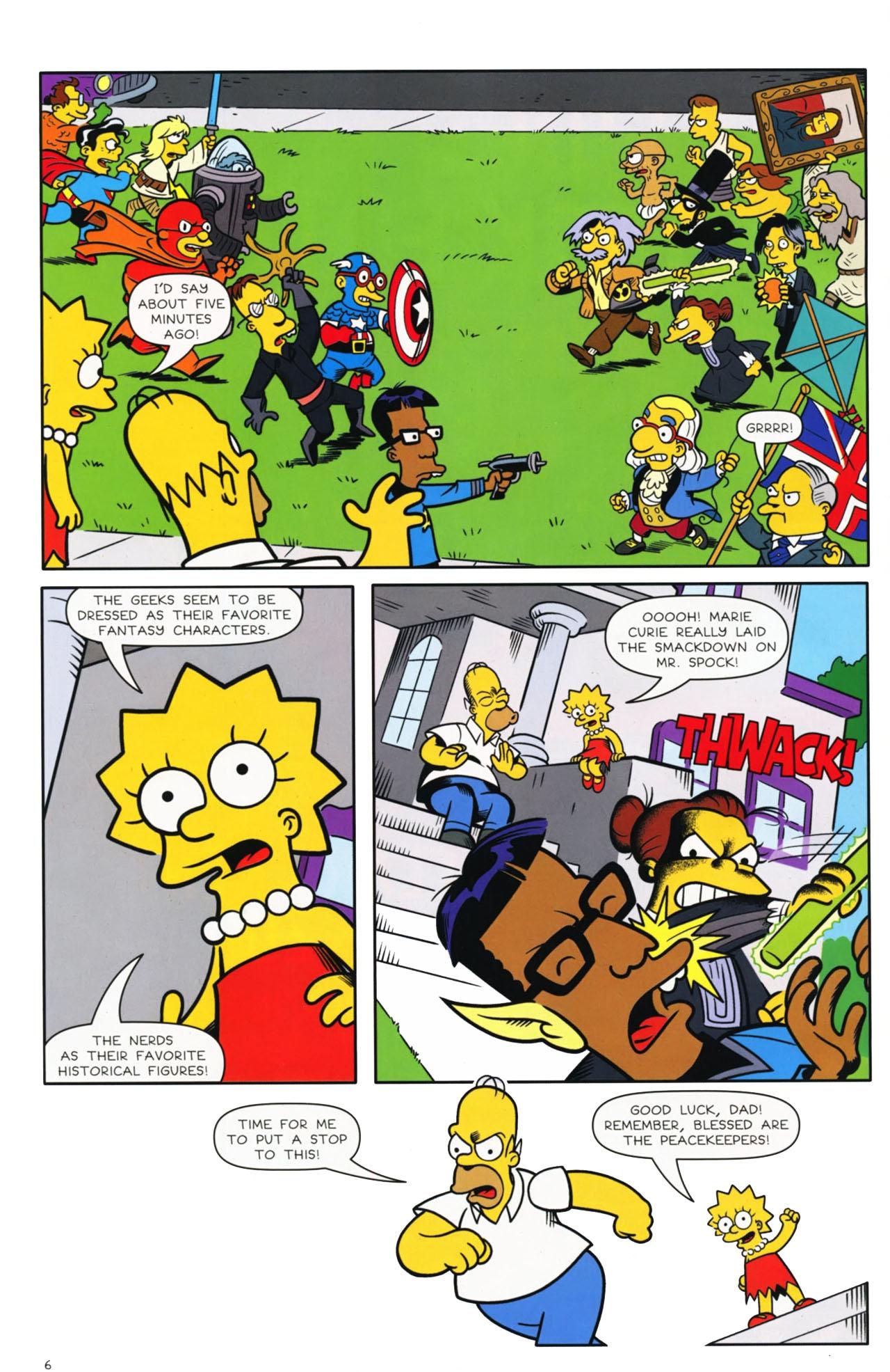 Read online Bongo Comics presents Comic Book Guy: The Comic Book comic -  Issue #3 - 6