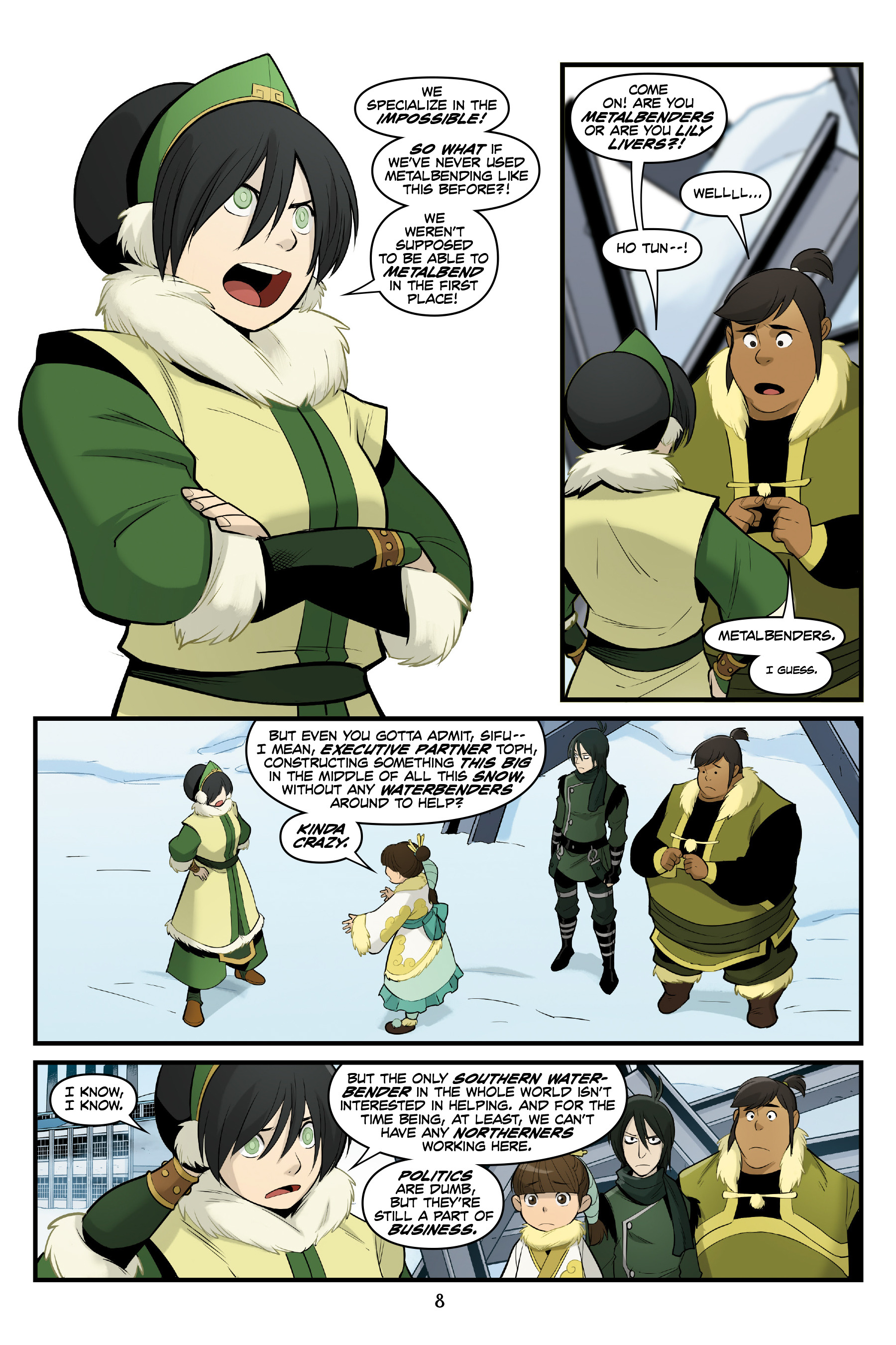 Read online Nickelodeon Avatar: The Last Airbender - North and South comic -  Issue #3 - 9