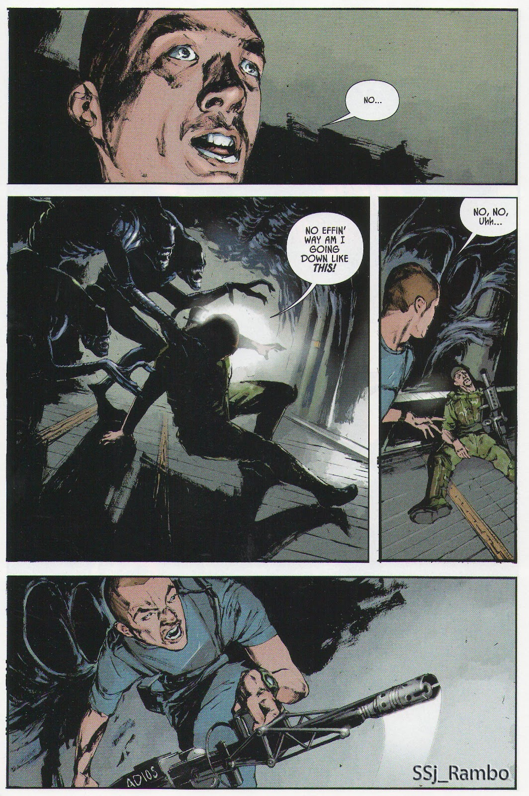 Read online Aliens: Colonial Marines - No Man Left Behind comic -  Issue # Full - 6