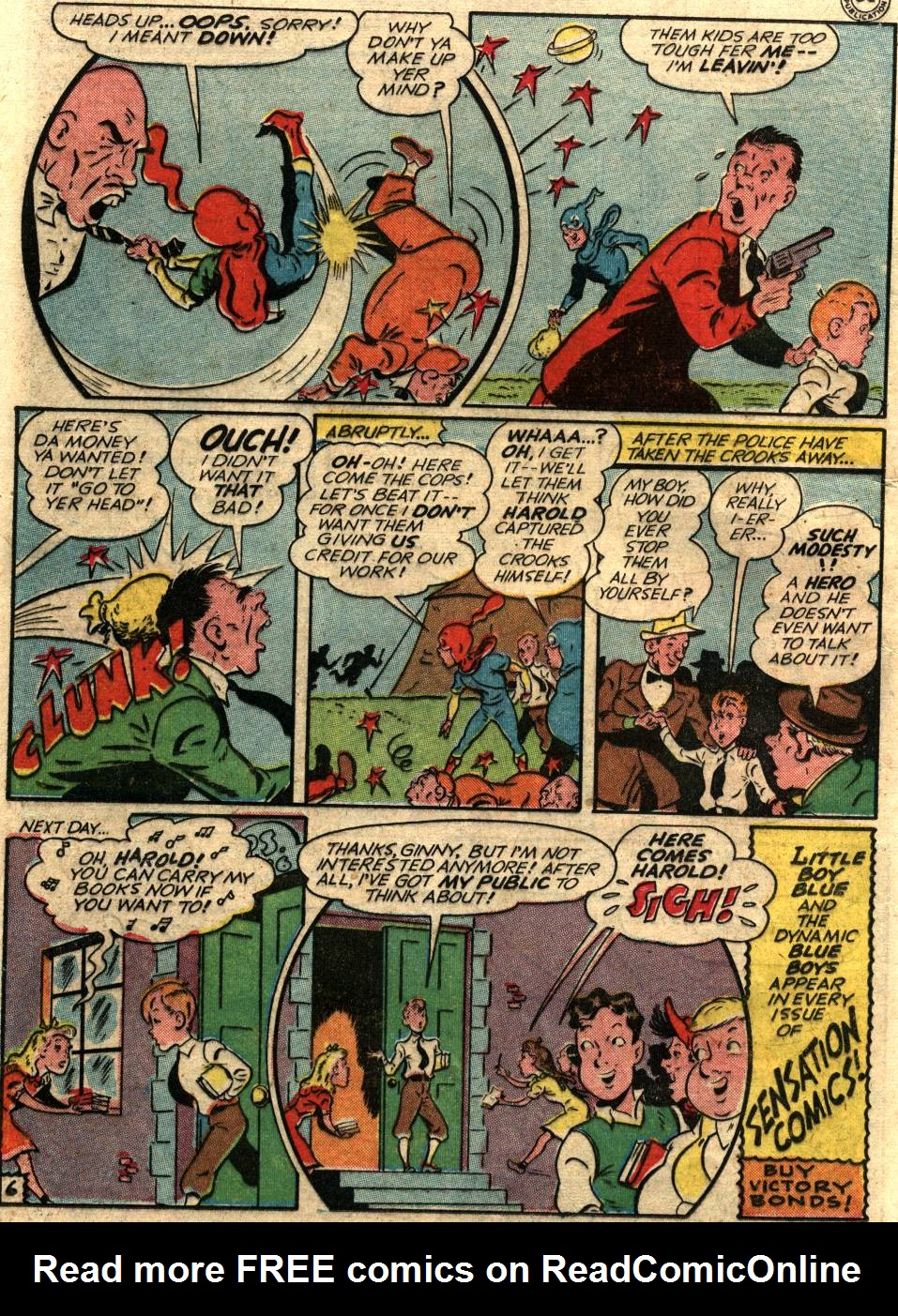 Read online Sensation (Mystery) Comics comic -  Issue #58 - 22