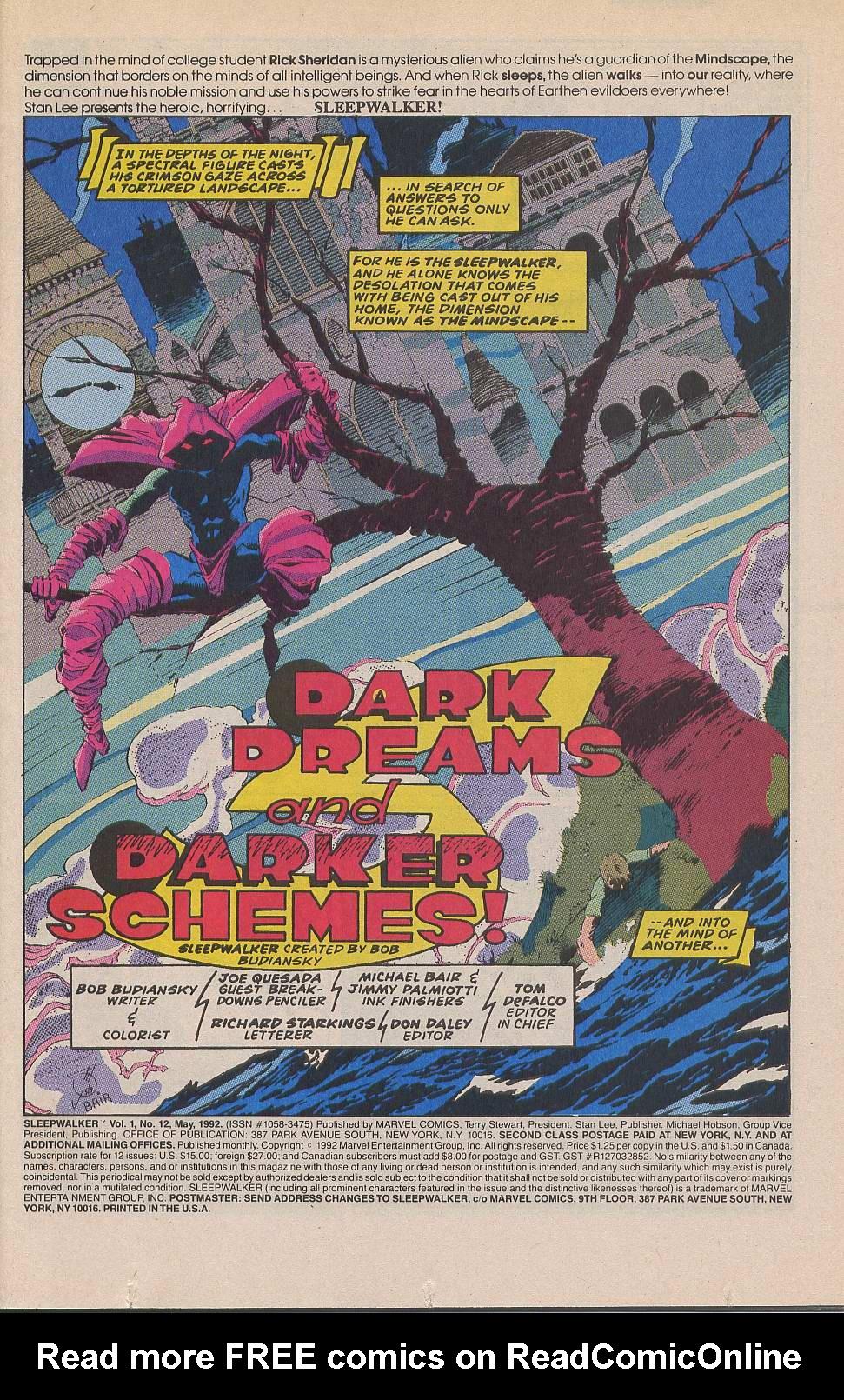 Read online Sleepwalker comic -  Issue #12 - 2