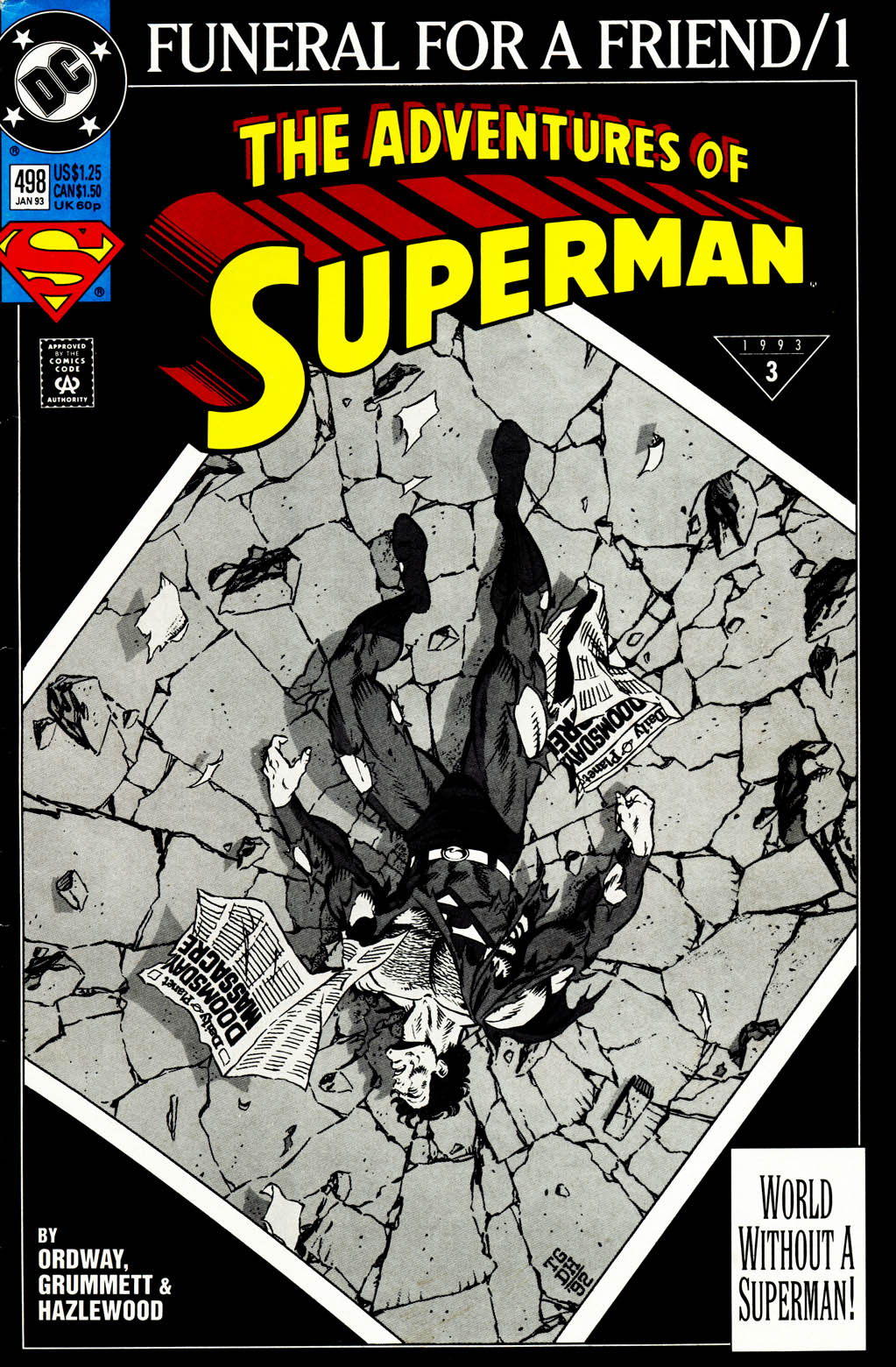 Read online Adventures of Superman (1987) comic -  Issue #498 - 1
