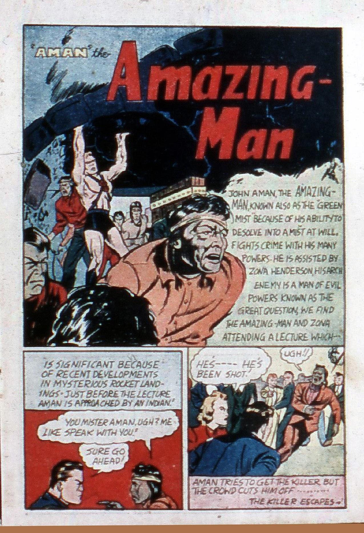 Read online Amazing Man Comics comic -  Issue #20 - 4