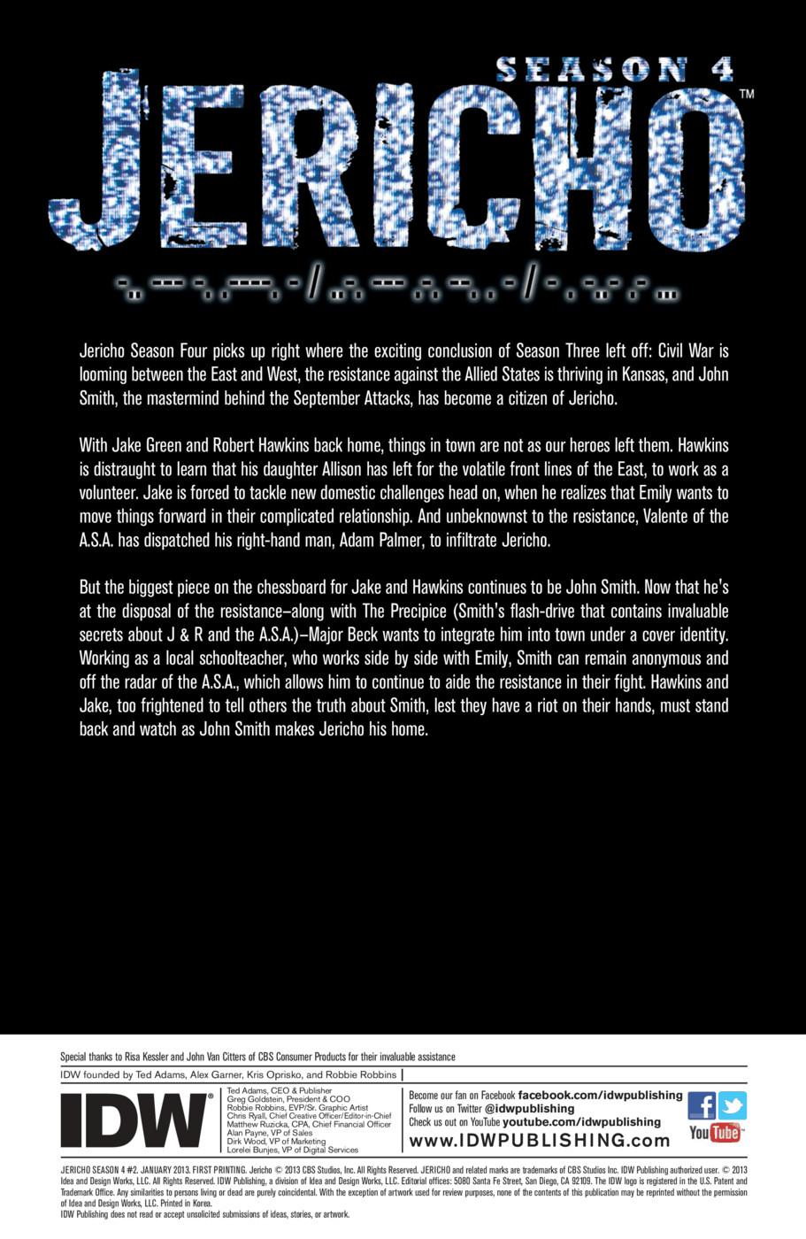 Read online Jericho Season 4 comic -  Issue #2 - 2