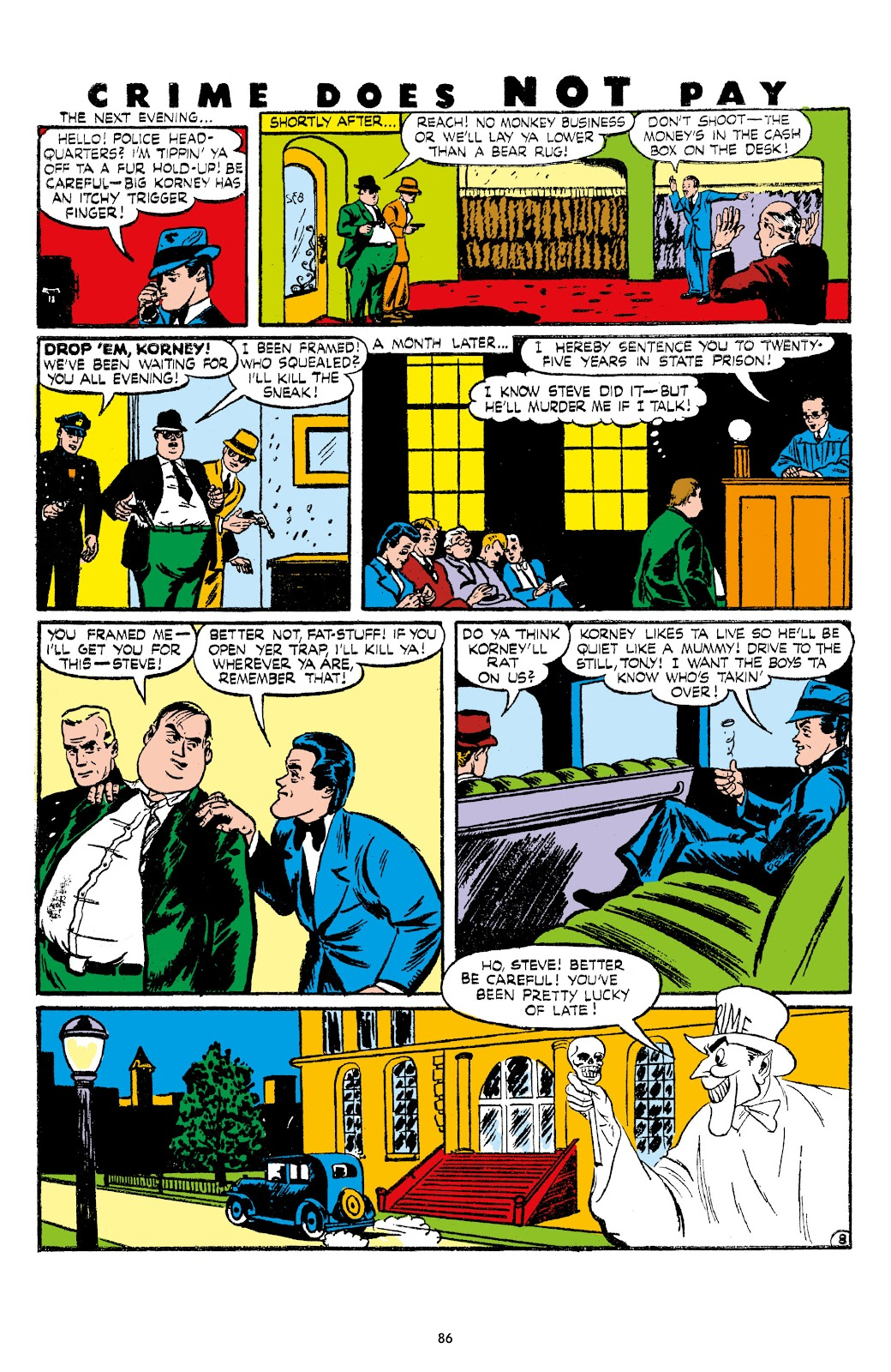 Read online Crime Does Not Pay Archives comic -  Issue # TPB 7 (Part 1) - 88