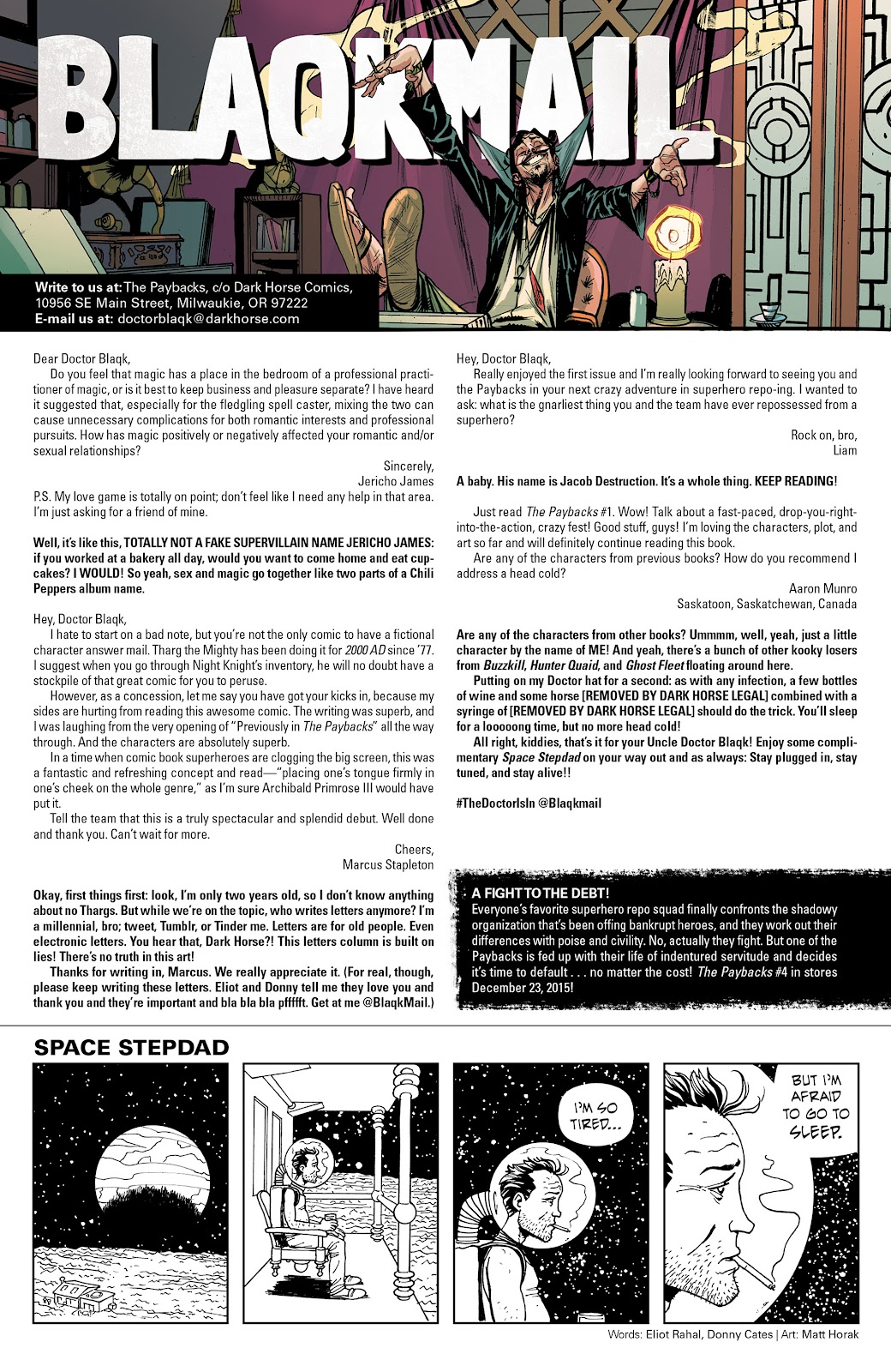 Comic The Paybacks (2015) issue 3