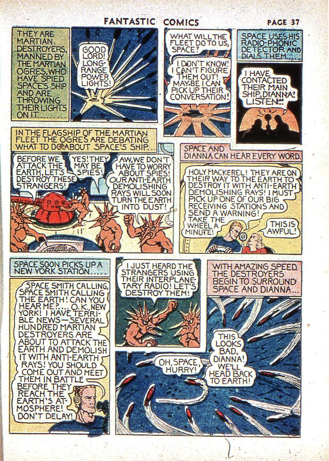 Read online Fantastic Comics comic -  Issue #2 - 38