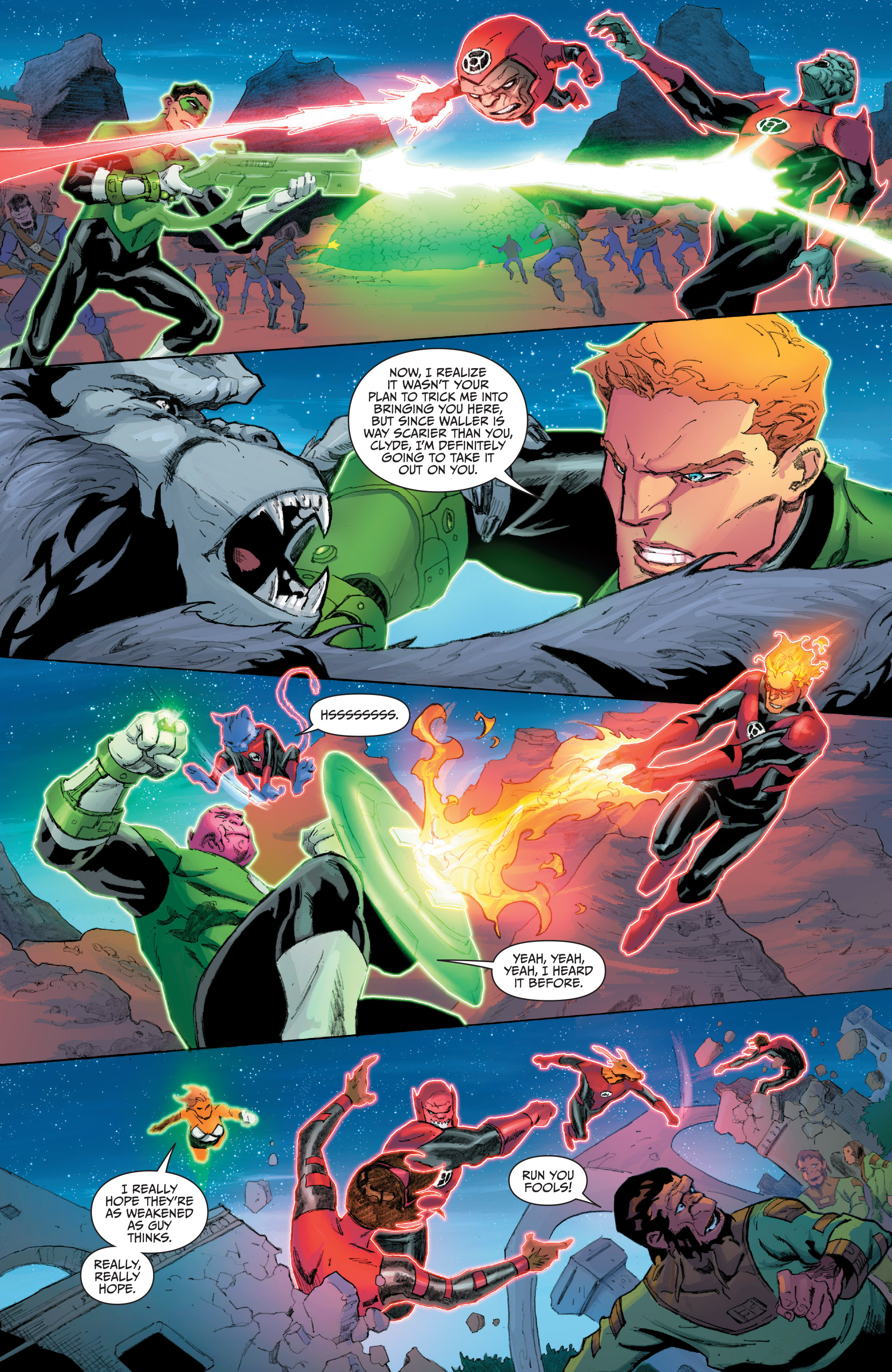 Read online Planet of the Apes/Green Lantern comic -  Issue #5 - 13