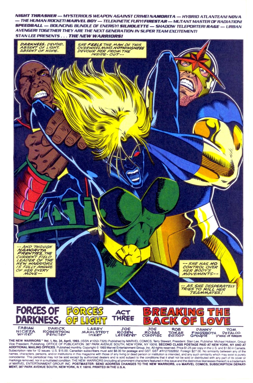 The New Warriors Issue #34 #38 - English 2