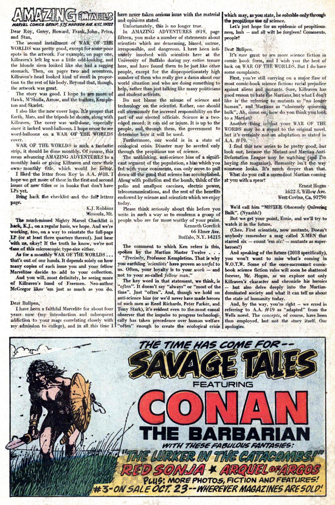 Read online Amazing Adventures (1970) comic -  Issue #22 - 32