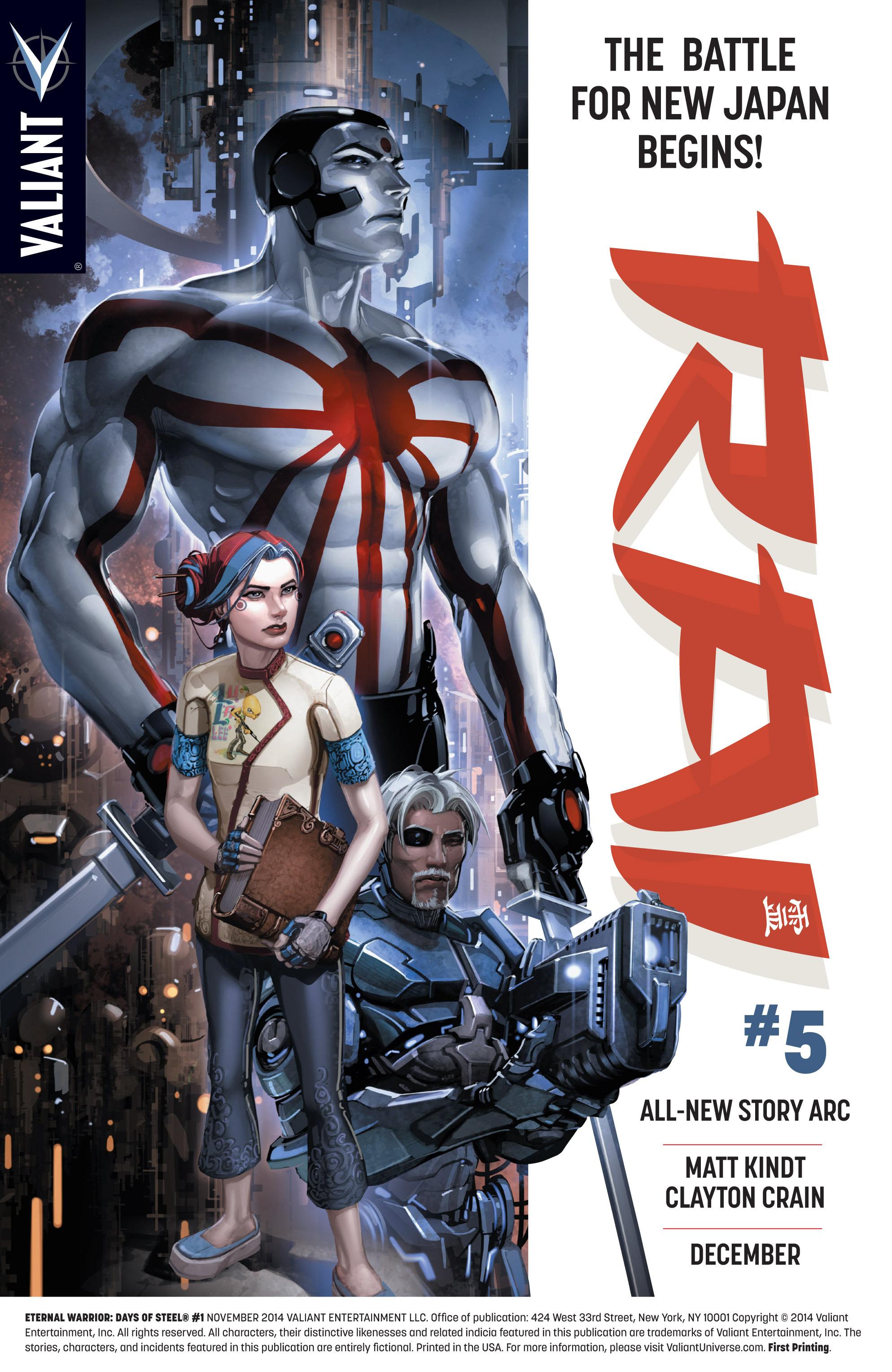 Read online Eternal Warrior: Days of Steel comic -  Issue #1 - 2