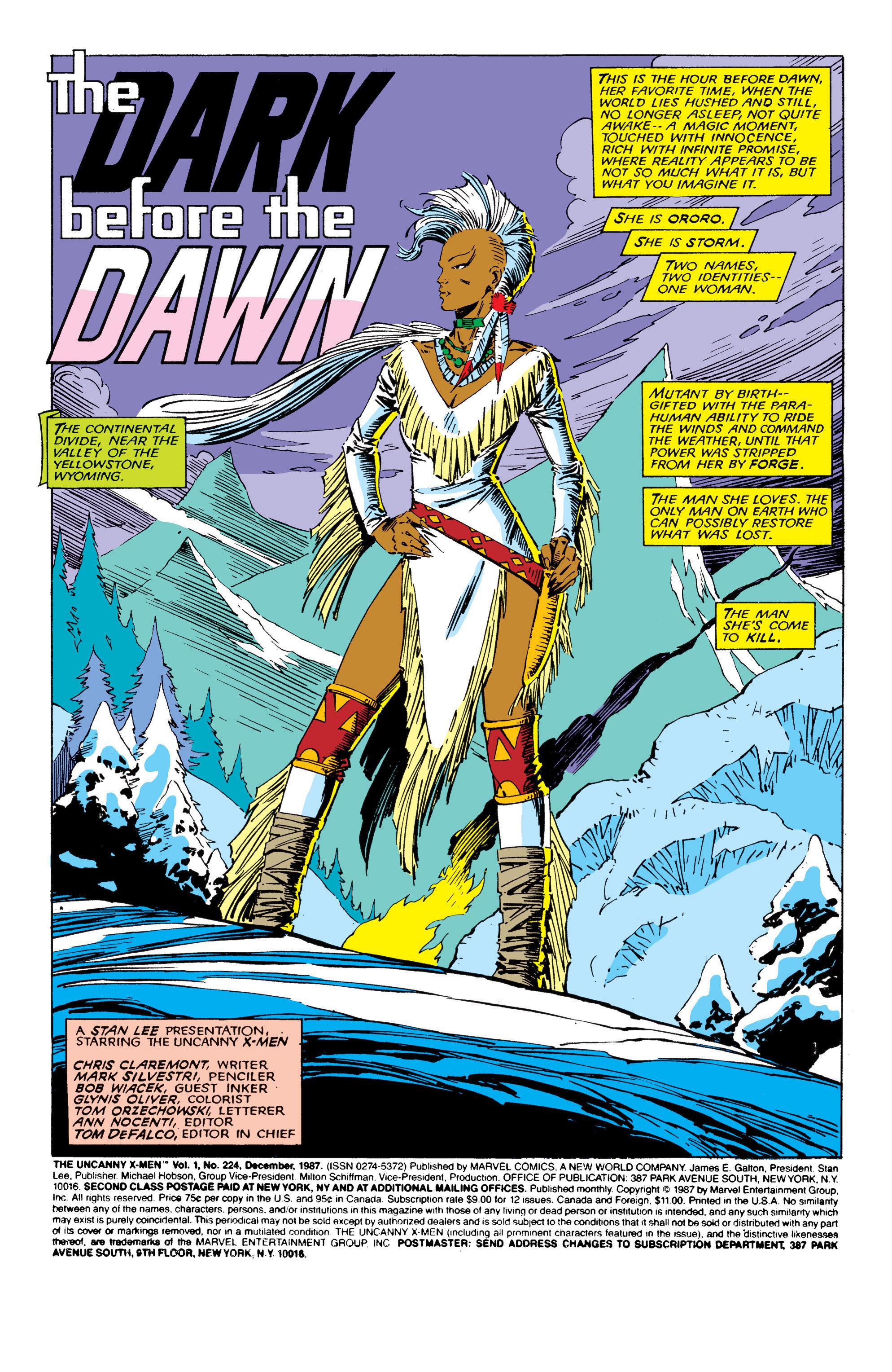 Read online Uncanny X-Men (1963) comic -  Issue #224 - 2