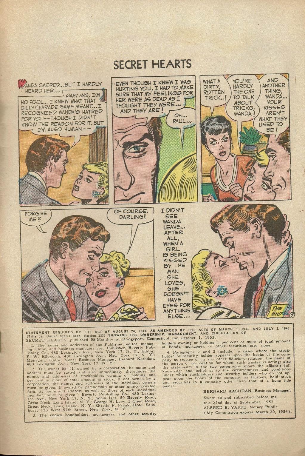 Read online Secret Hearts comic -  Issue #14 - 33