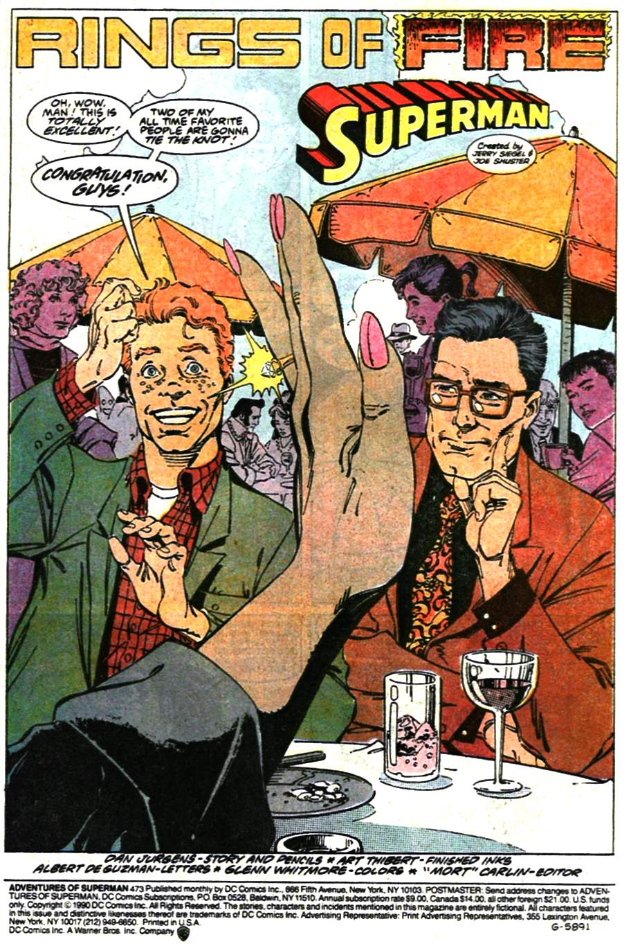 Read online Adventures of Superman (1987) comic -  Issue #473 - 3