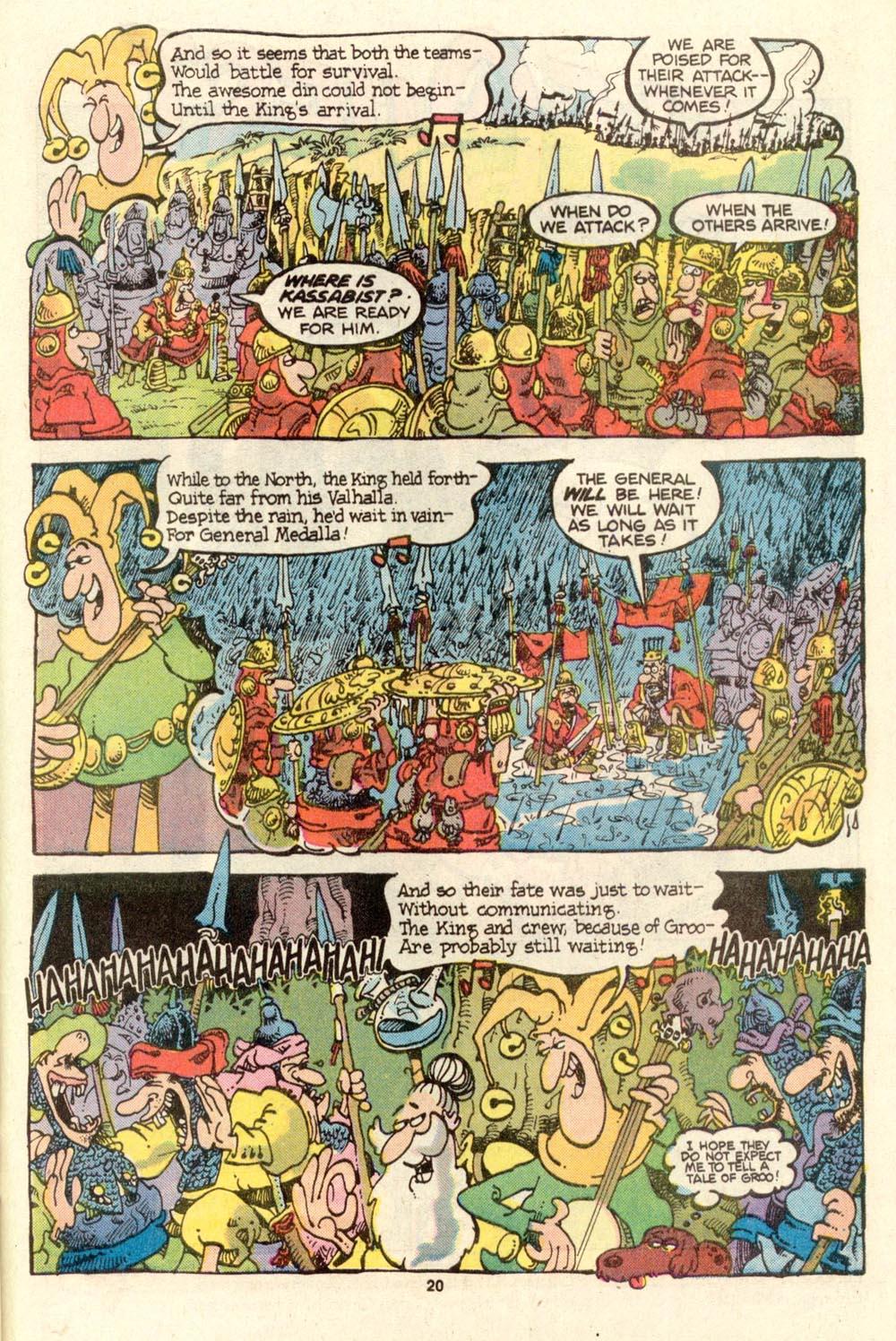 Read online Sergio Aragonés Groo the Wanderer comic -  Issue #27 - 20