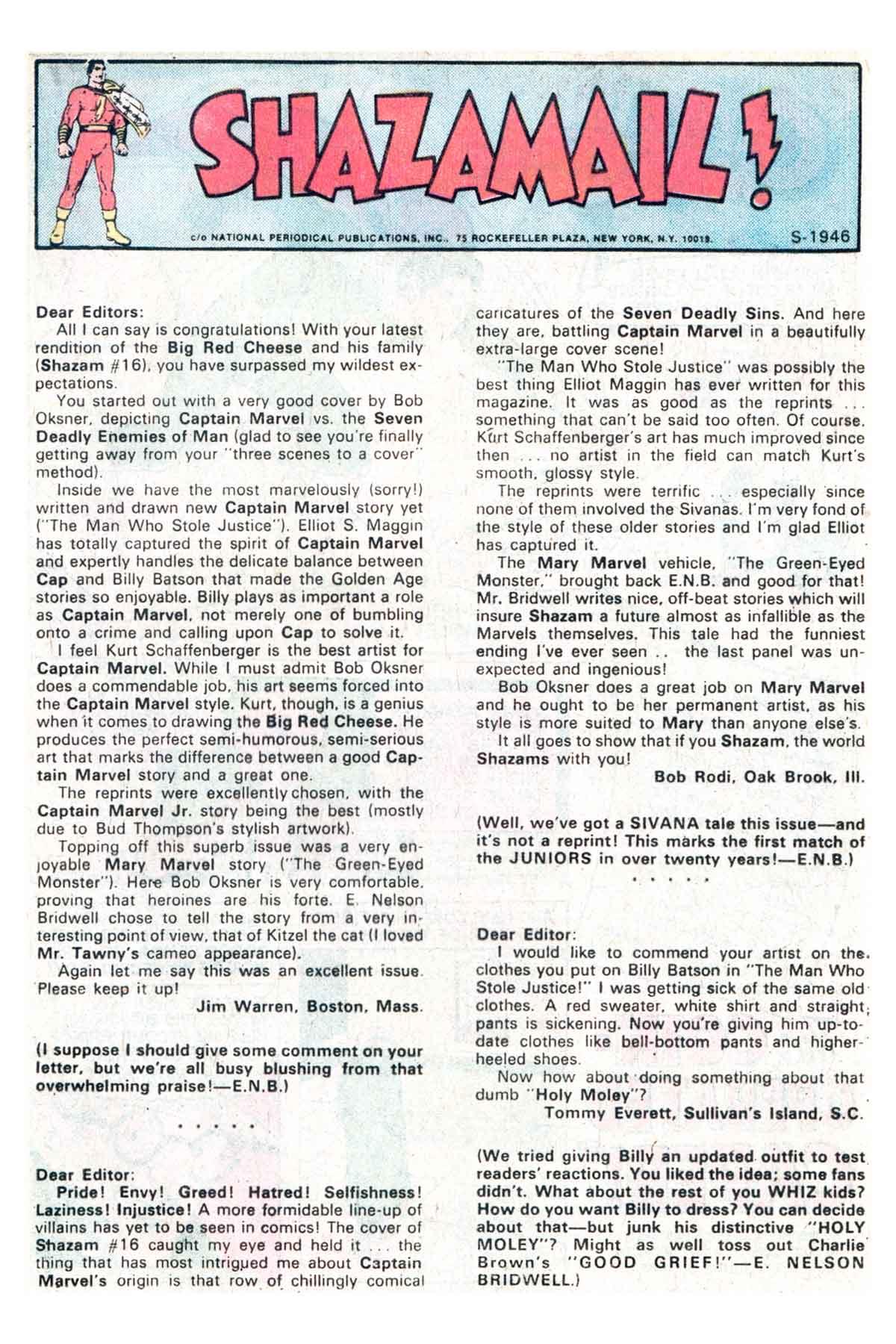 Read online Shazam! (1973) comic -  Issue #18 - 13