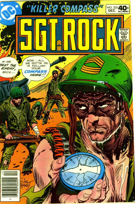 Read online Sgt. Rock comic -  Issue #335 - 1