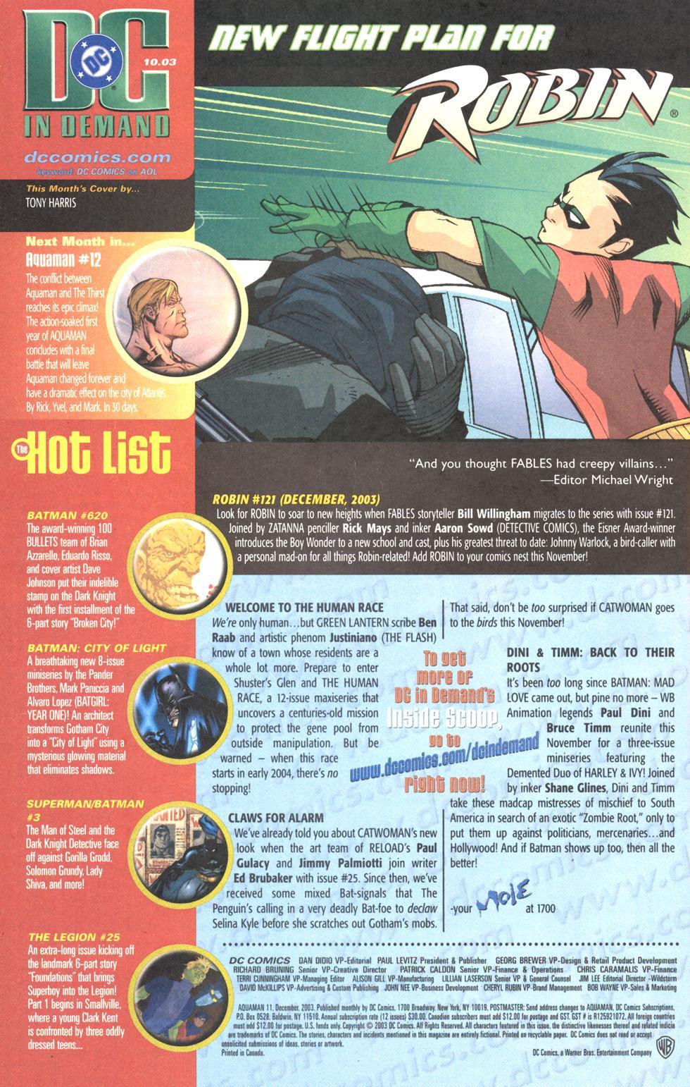 Read online Aquaman (2003) comic -  Issue #11 - 25