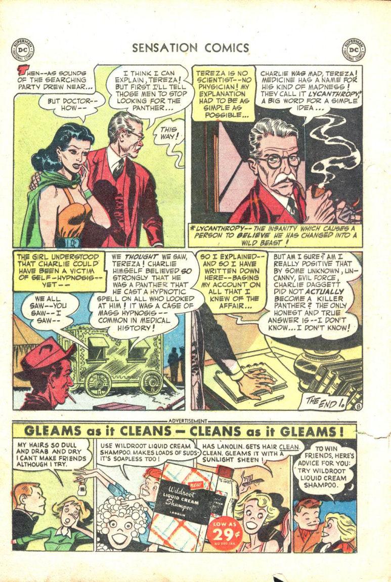 Read online Sensation (Mystery) Comics comic -  Issue #109 - 20