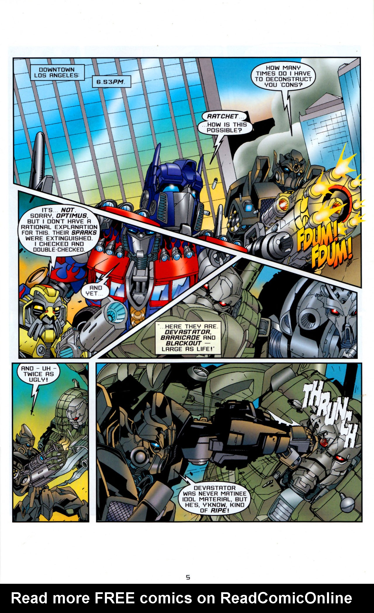 Read online Transformers: Saga of the Allspark comic -  Issue #4 - 8