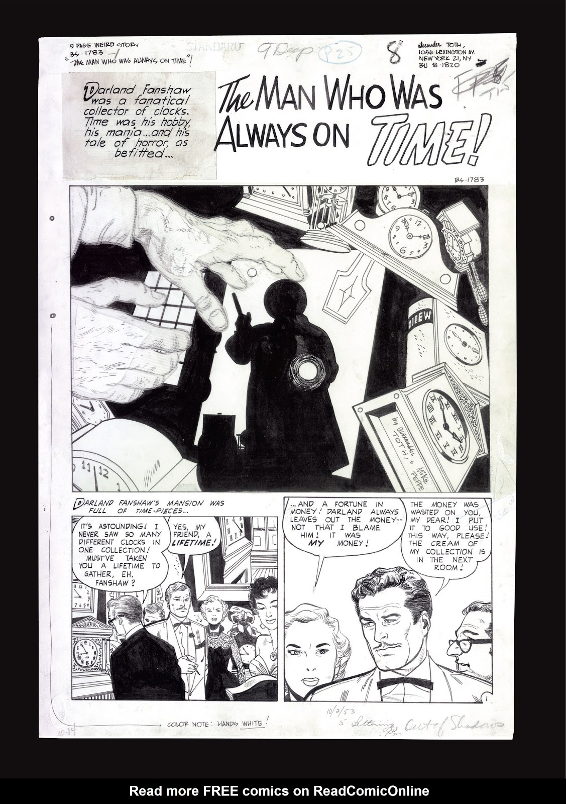 Read online Setting the Standard: Comics by Alex Toth 1952-1954 comic -  Issue # TPB (Part 4) - 129