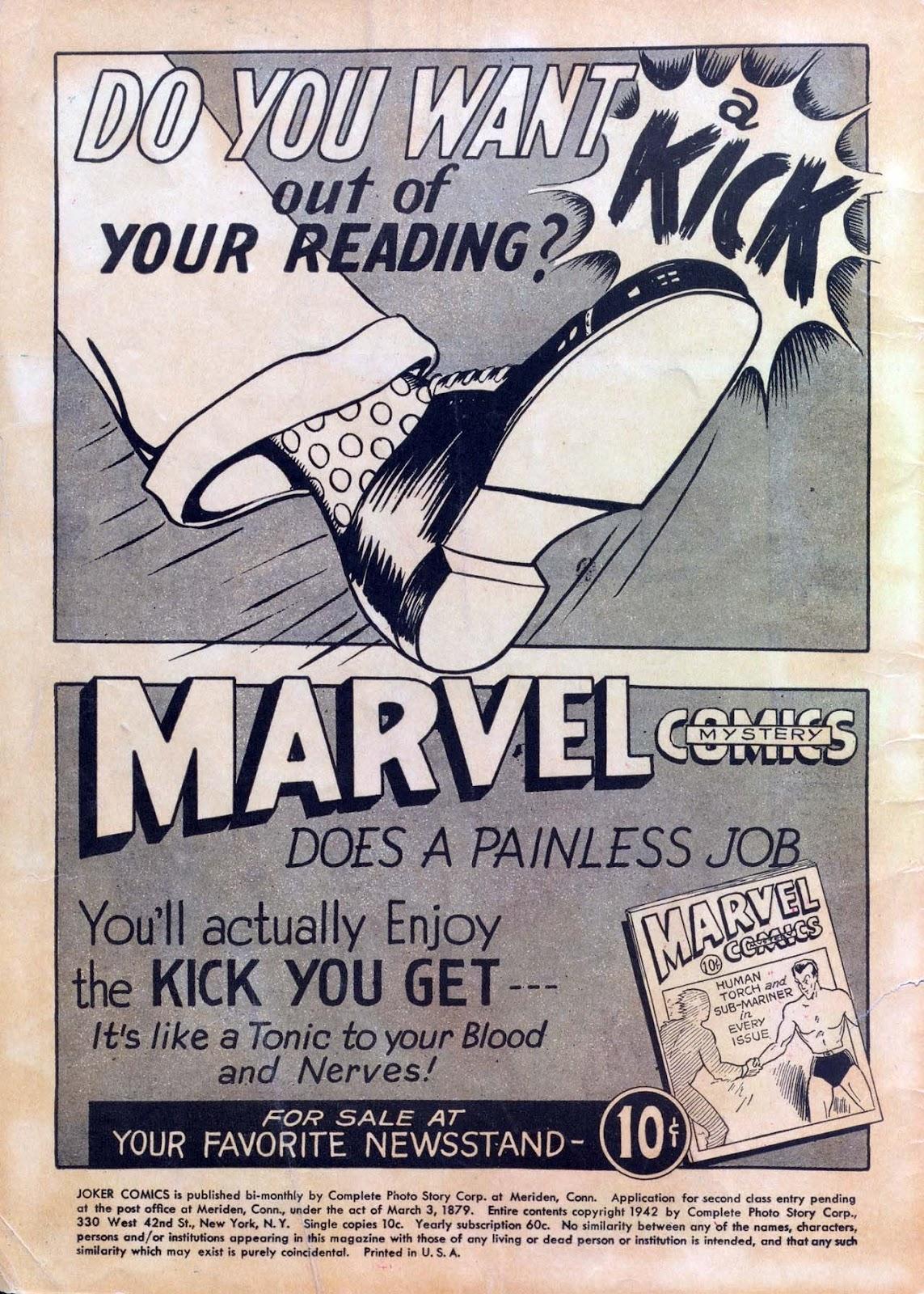 Read online Joker Comics comic -  Issue #1 - 2