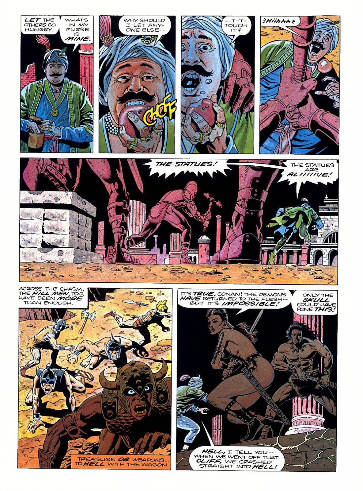 Read online Marvel Graphic Novel: Conan the Barbarian: The Skull of Set comic -  Issue # Full - 44