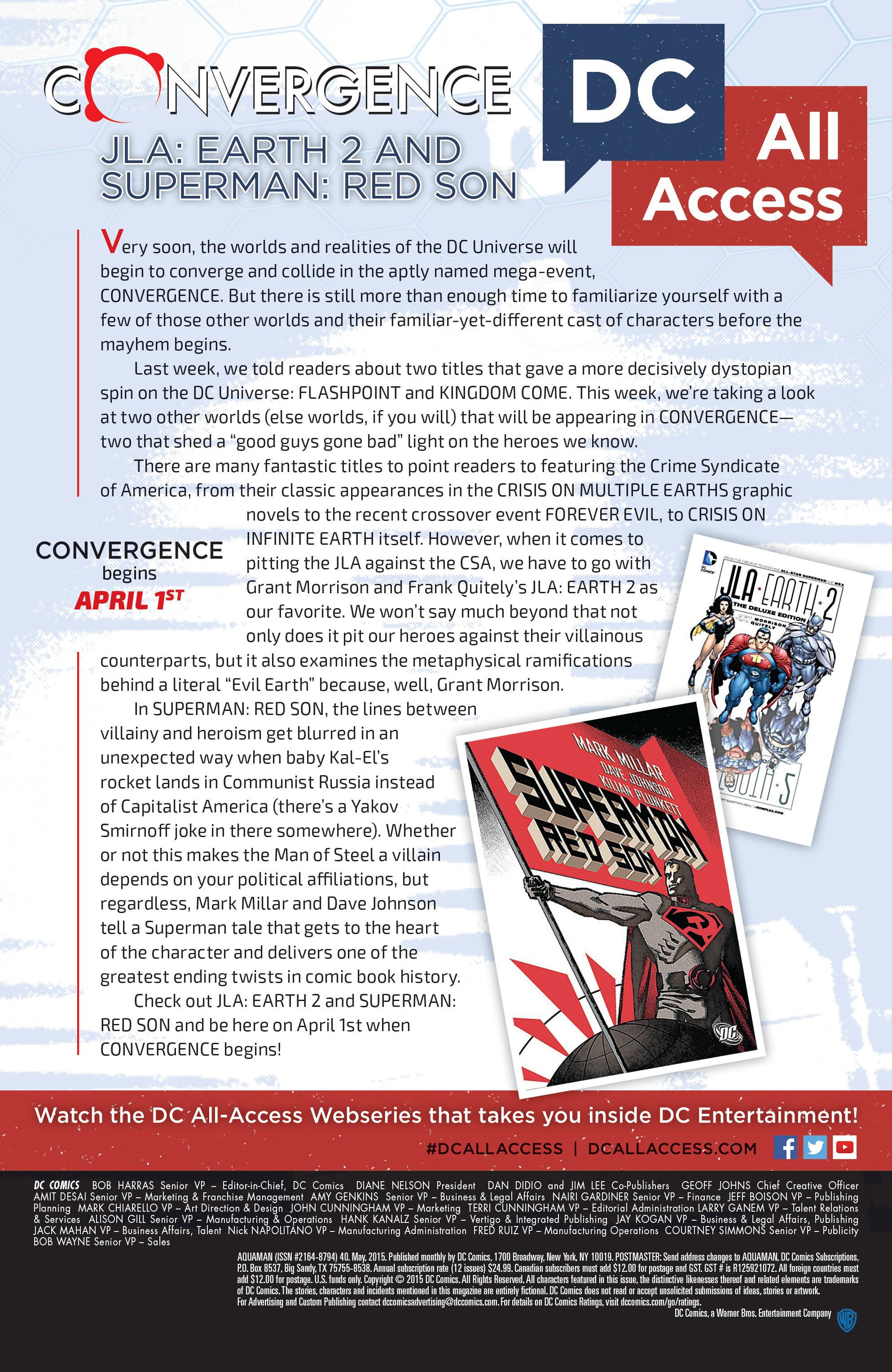 Read online Aquaman (2011) comic -  Issue #40 - 24
