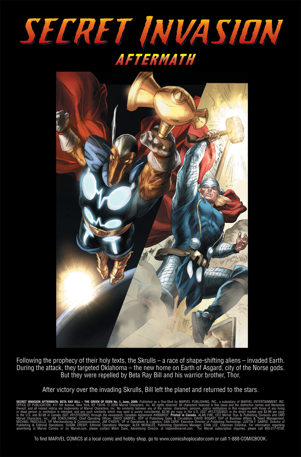 Read online Secret Invasion Aftermath: Beta Ray Bill - The Green of Eden comic -  Issue # Full - 2