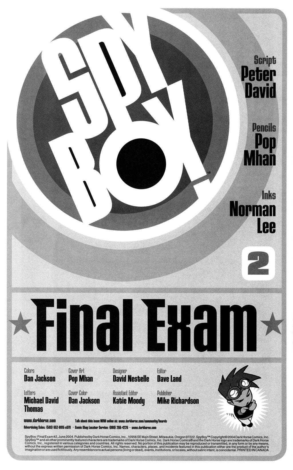 Read online SpyBoy: Final Exam comic -  Issue #2 - 2