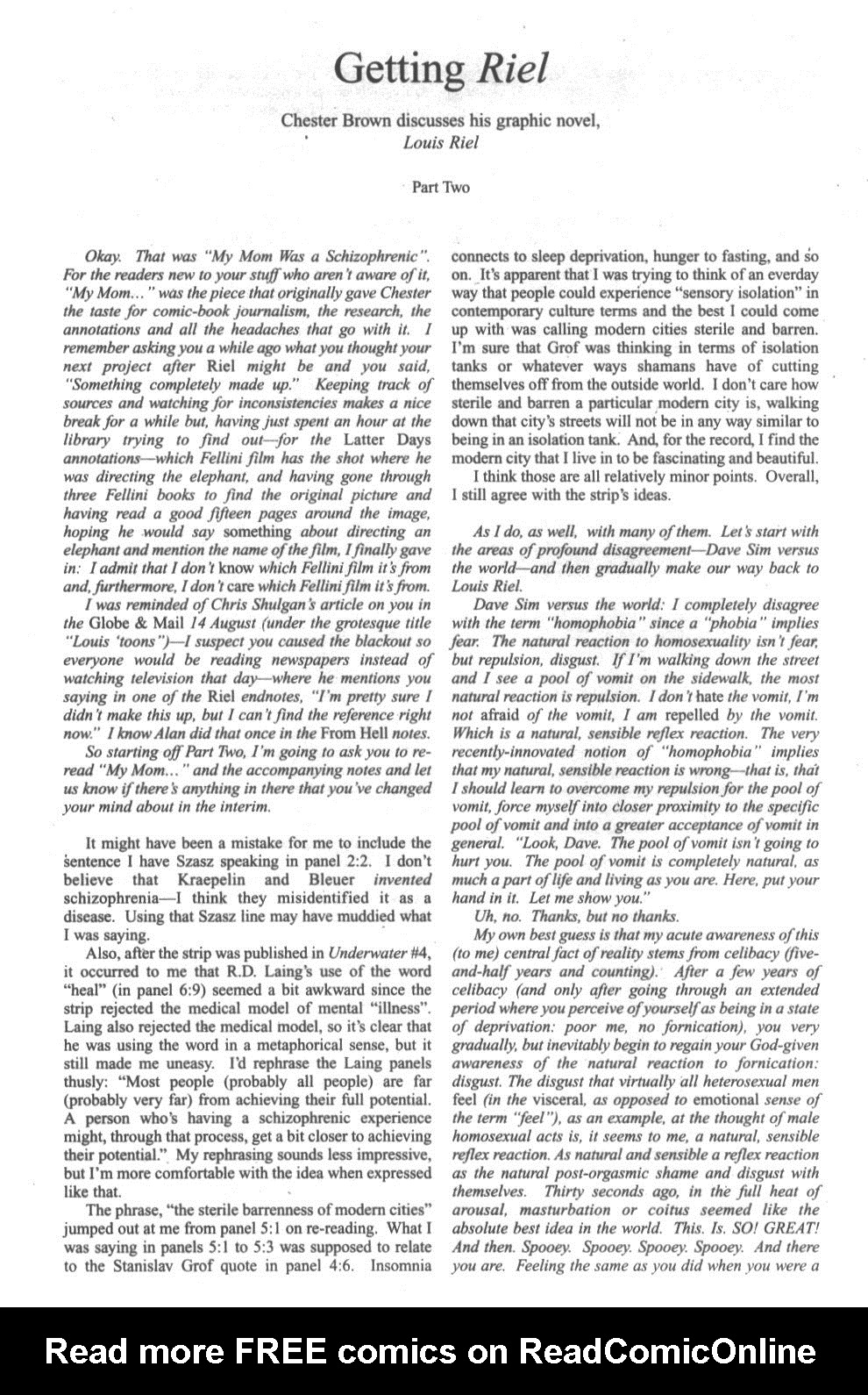 Cerebus Issue #296 #294 - English 32