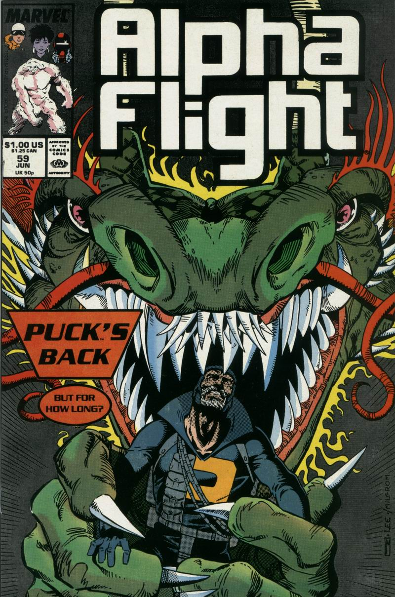 Read online Alpha Flight (1983) comic -  Issue #59 - 1