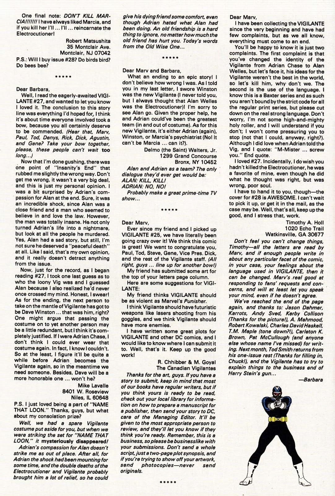Vigilante (1983) issue 31 - Page 32