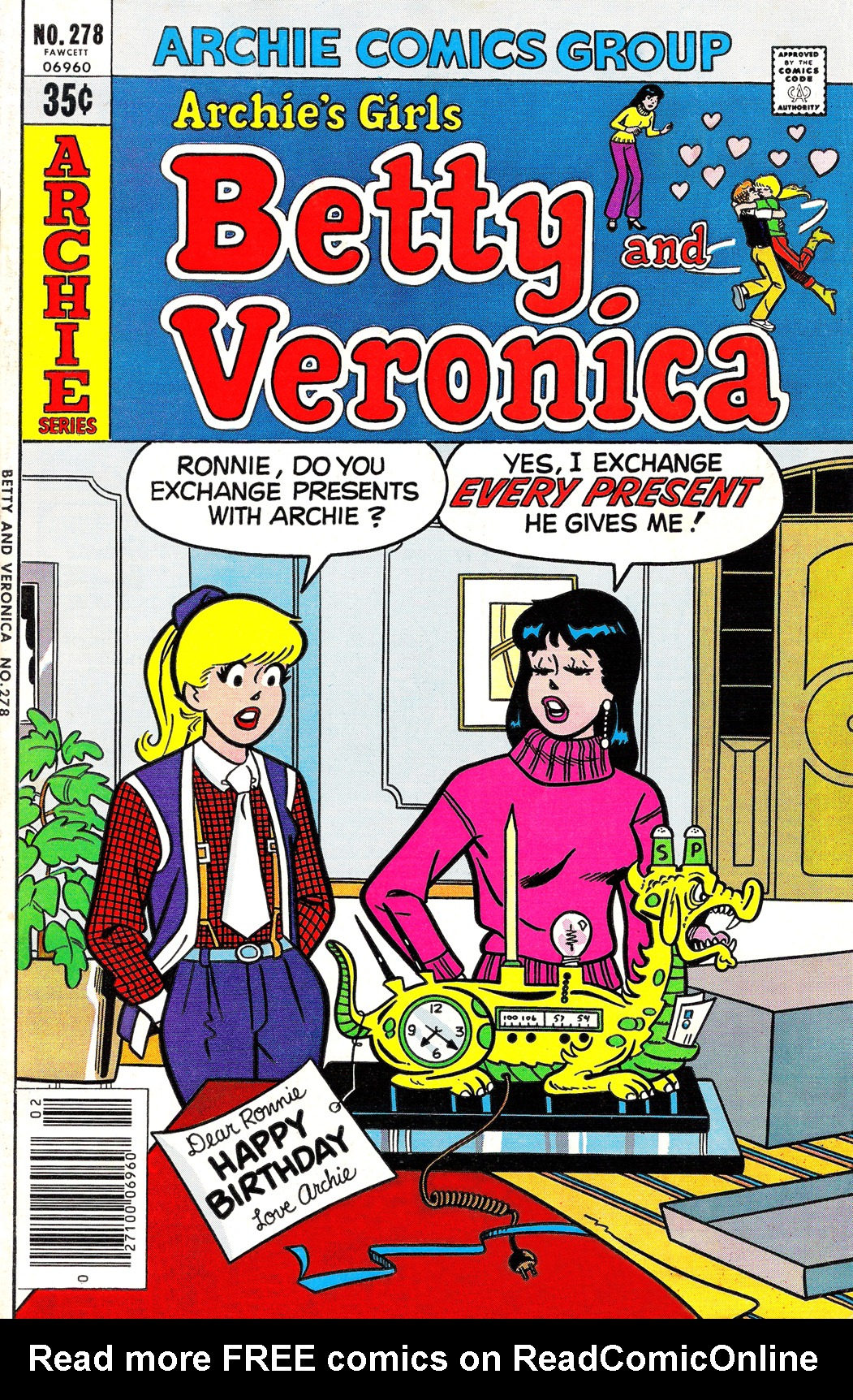 Read online Archie's Girls Betty and Veronica comic -  Issue #278 - 1