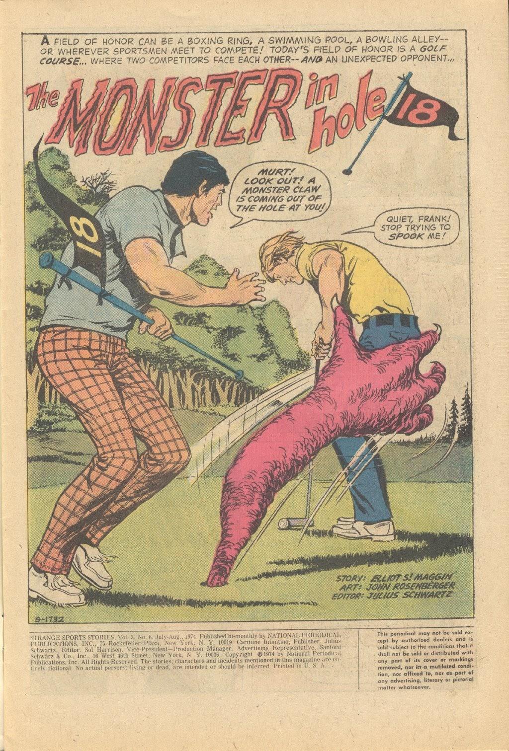 Read online Strange Sports Stories (1973) comic -  Issue #6 - 2