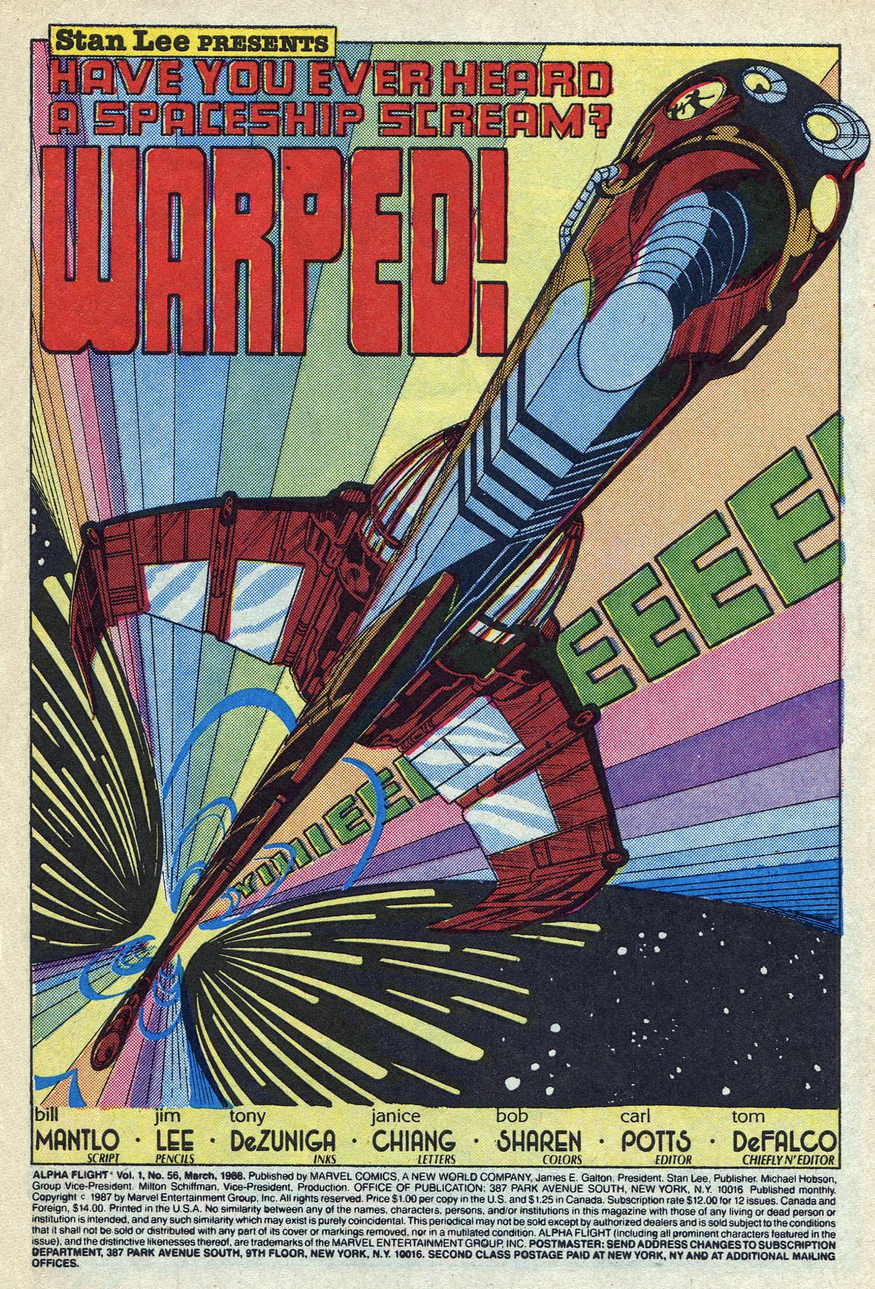 Read online Alpha Flight (1983) comic -  Issue #56 - 3