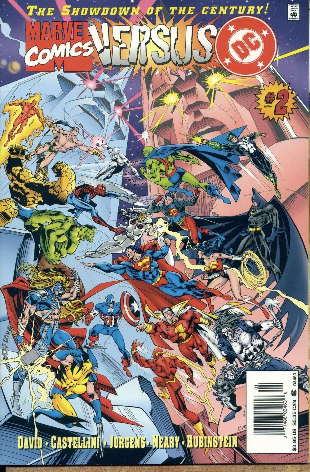 Read online DC Versus Marvel Comics comic -  Issue #2 - 1
