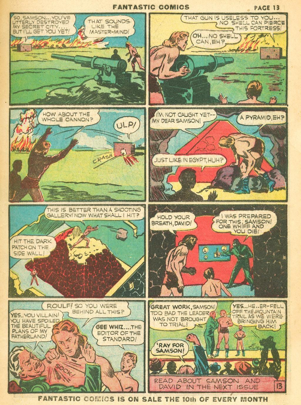Read online Fantastic Comics comic -  Issue #12 - 15