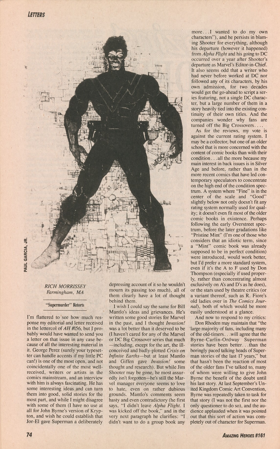 Read online Amazing Heroes comic -  Issue #161 - 74