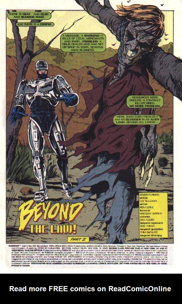 Read online Robocop (1990) comic -  Issue #22 - 2