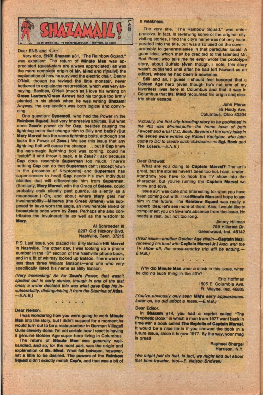 Read online Shazam! (1973) comic -  Issue #33 - 32